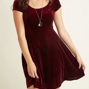 Modcloth Velvet Skater Dress